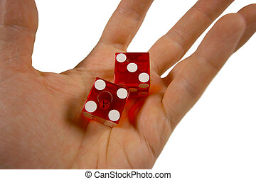 dice hand - an outstretched hand ready to throw some casino...