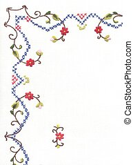 Embroidery - Detail of embroidered table cloth