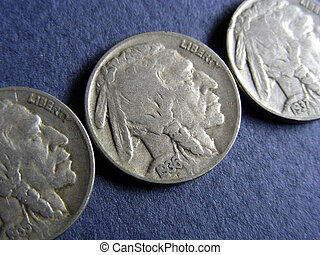 Native Americans - 1935, 36 and 37 Indian Head Buffalo...