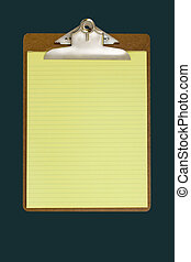 Clipboard - clipboard with note-pad on dark green background