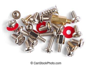 Computer Screws - Isolated computer screws