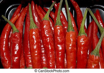 RED HOT Chilis - red chilis in a box
