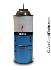 Old Gas Can - An old gas can on white background with some...