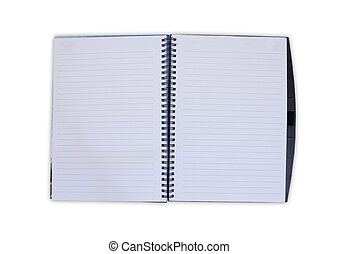 Open Notebook on white background
