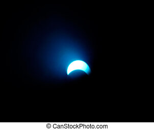 Solar eclipse 2 - Blue solar eclipse, abstract light effect