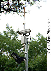 Security Camera - cctv camera complete with spot light