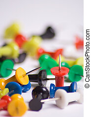 Push pins - Colorful push pins close up
