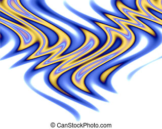 Tribal Flames - over white - A beautiful abstract background...