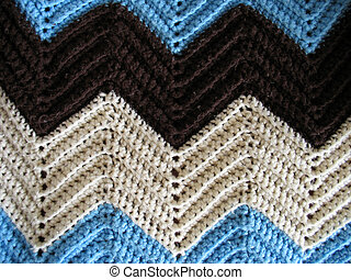 Knitted Afghan Pattern - A great pattern of a knitted afghan...
