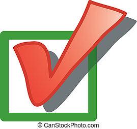Check box icon or symbol
