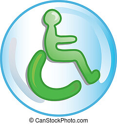Handicap icon or symbol
