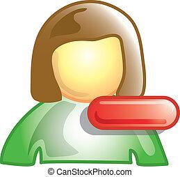 Minus person icon - Minus or subtract person symbol