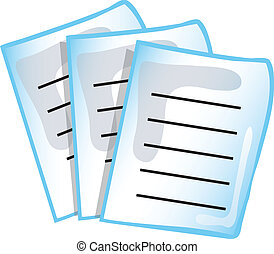 Paperwork icon - Paperwork or report icon