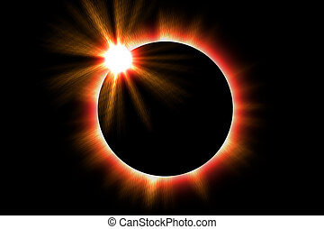 Solar Eclips - Illustration of a solar eclipse of the sun
