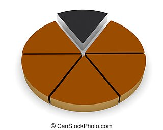 piece of the pie - 3d pie chart render