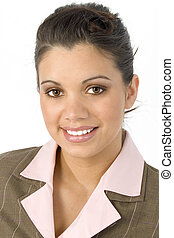 Business Woman - Beautiful Hispanic business woman portrait...