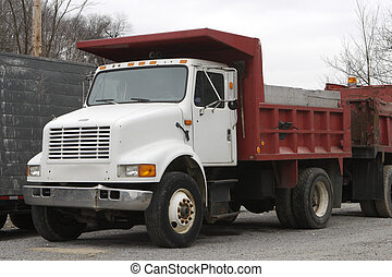 Dump Truck - Red & White Dump Truck