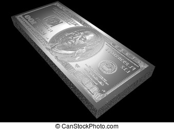 dollar plate - dollar printing plate made of silver
