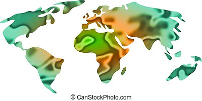world map - stylised map of the world - isolated design