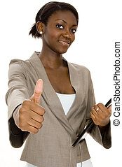 Successful Business - A successful young black businesswoman...