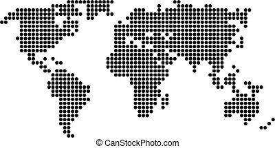 dot map - map of the world made up of black dots
