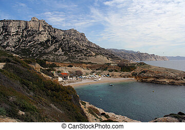 les goudes calanques - the calanques at les goudes,...