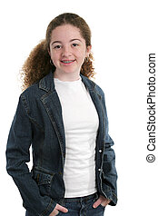 Cute Casual Teen - A cute, casual teen girl in denim