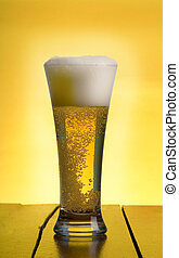 Beer - berr glass on table