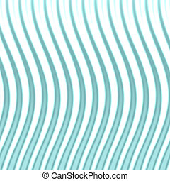 Wavy Blue Lines - A modern looking spiked and wavy...