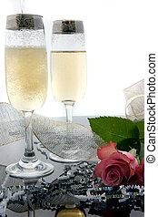 champaña, tostada