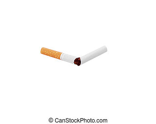 Cigarette isolated over a white background.