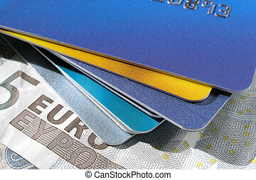 Credit Cards - credit cards and euros