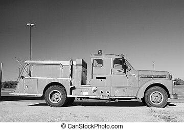 old fire truck - an antique fire truck
