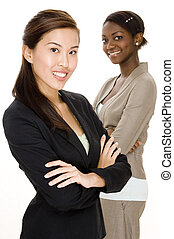 Attractive Business - An asian business woman standing in...