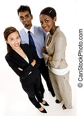 Business Growth - A wide-angle shot of a young diverse...