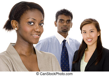 Diverse Team - A diverse young business team
