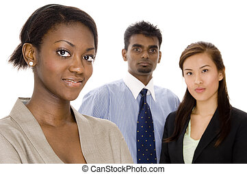 Young Business Group - A diverse young business team - Focus...