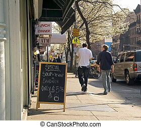 Todays Special - This is a New York City street scene in...