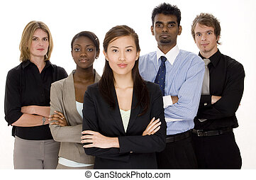 Serious Business Team - A diverse and serious looking...