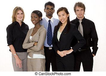 Diverse Business Team - A diverse team of three...