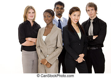 Business Team - A diverse and young business team