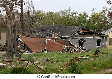 Hurricane Damage #3 - Houses damaged by Hurricane Katrina