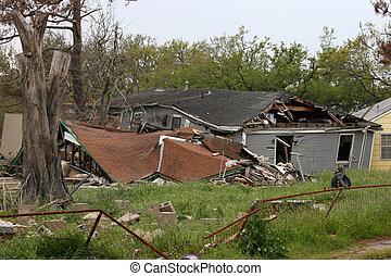 Hurricane Damage #3 - Houses damaged by Hurricane Katrina