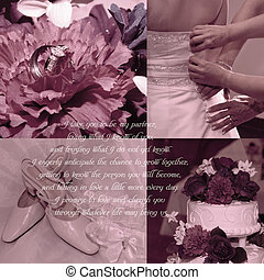 Wedding Vows Background - Background for scrapbooking with...