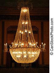Chandelier - Beautiful chandelier in a hotel lobby
