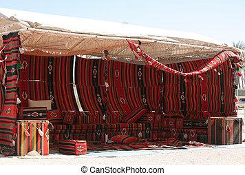 Bedouin tent - Traditional, Qatari-style Bedouin tent.