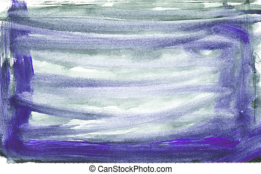 Watercolour wash - Hand painted water colour background on...