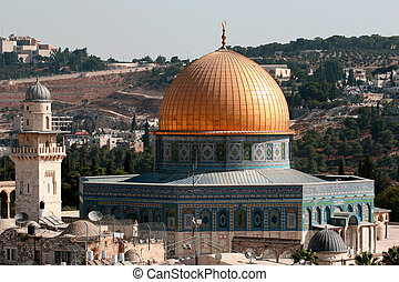 The Dome of the rock - The dome of the rock in the mount...
