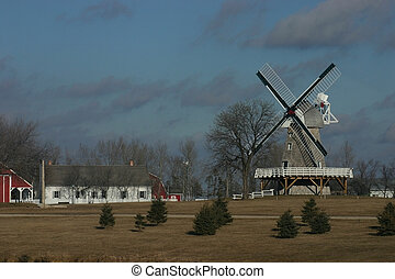 windmill - a windmill from the mennonite herritage village...