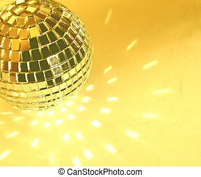 disco ball - gold yellow disco ball